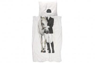 Reiter-Bettwäsche mit Pferdemotiv
