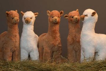 Kuscheliges Alpaka Stofftier