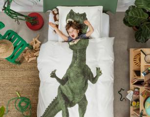 Bettwäsche mit Dinosaurier