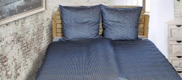 dunkelblaue Satin Bettwäsche
