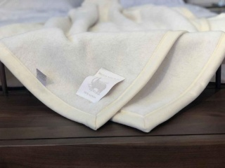 Luxus Alpaka-Wolldecke in Übergröße